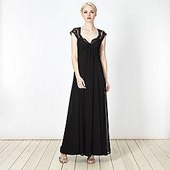 Debut - Black lace trimmed maxi dress