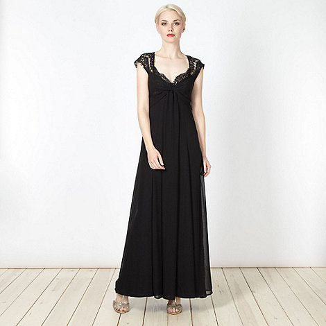 Debut - Black lace trimmed maxi dress