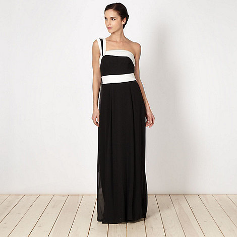 Debut - Black monochrome shoulder maxi dress
