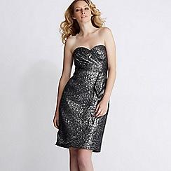 Debut - Silver jaquard dress