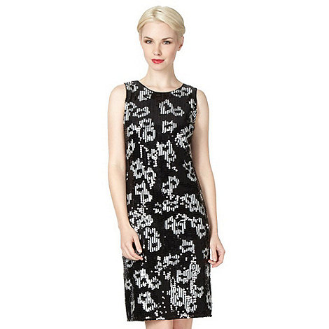 Debut - Black spotted sequin dress