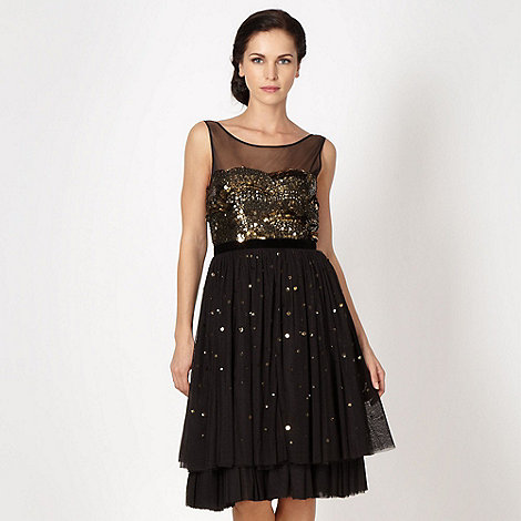 Debut - Black sequin bodice prom dress