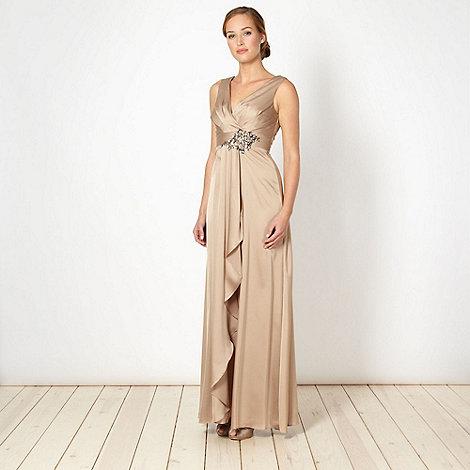 No. 1 Jenny Packham - Designer gold satin embellished dress