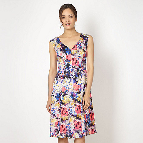 No. 1 Jenny Packham - Designer blue abstract floral prom dress