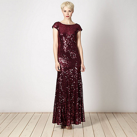 No. 1 Jenny Packham - Designer purple sequin dress