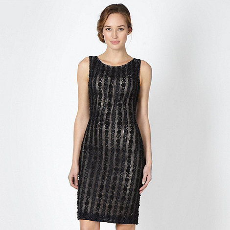 No. 1 Jenny Packham - Designer black embellished shift dress
