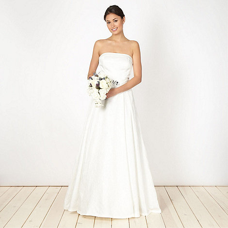 Debut - Ivory jacquard bandeau bridal dress