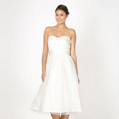 Debenhams Wedding Gift List Delivery : ... Online exclusive ivory floral embroidered bridal dress Debenhams