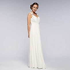 Debut - Ivory pleated jersey maxi dress