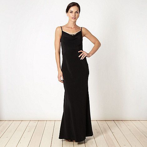 Pearce II Fionda - Designer black embroidered mesh dress