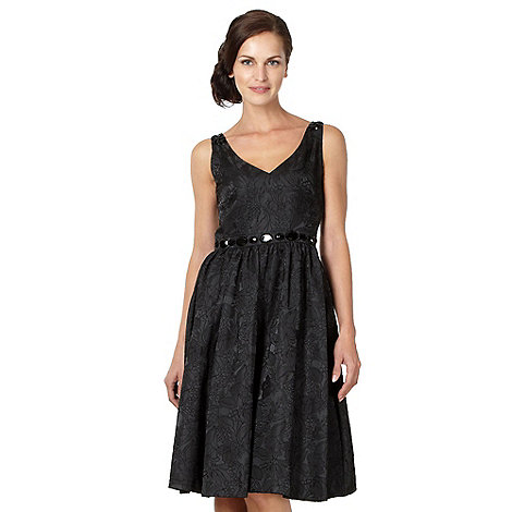 Principles by Ben de Lisi - Designer black jacquard prom dress