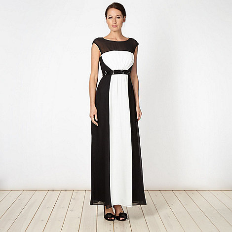 Principles by Ben de Lisi - Designer black colour block embellished maxi dress