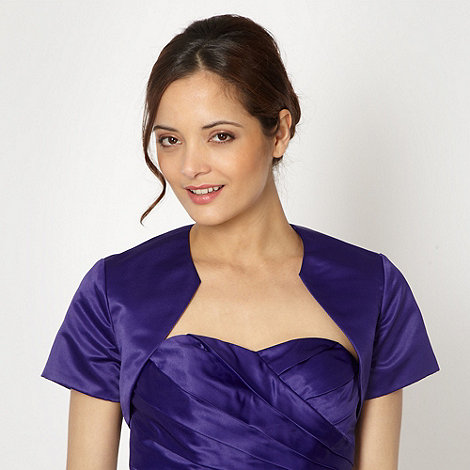 Debut - Purple satin bolero
