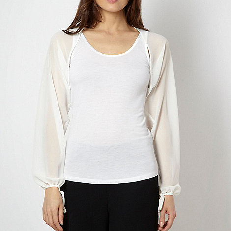Debut - White long sleeved shrug