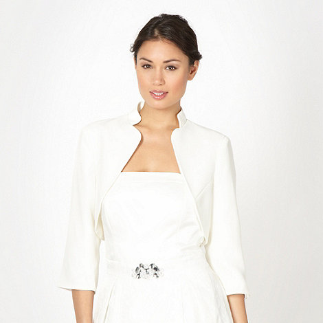 Debut - Online exclusive ivory crepe bridal cover up