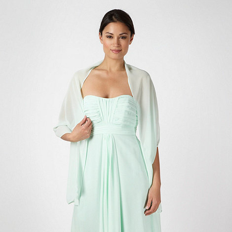 Debut - Online exclusive pale green chiffon stole