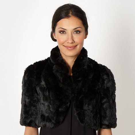 Debut - Black faux fur cover up