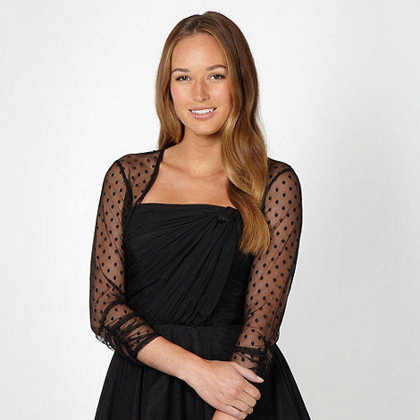 Debut - Black spotted mesh cover up