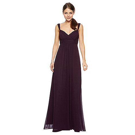 Debut - Rose Pleat Chiffon Maxi Dress