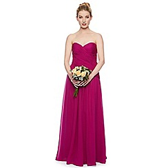 Debut - Sweetpea Ruched Bodice Chiffon Maxi Dress