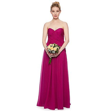 Debut - Sweetpea Ruched Bodice Chiffon Maxi Dress
