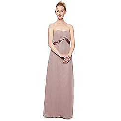Debut - Elisa Satin Twist Bandeau Maxi Dress