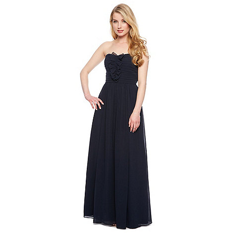 Debut - Fern Ruffle Bandeau Chiffon Maxi Dress
