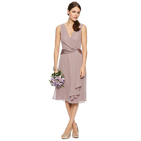 Debut - Elisa Satin Twist Midi Dress