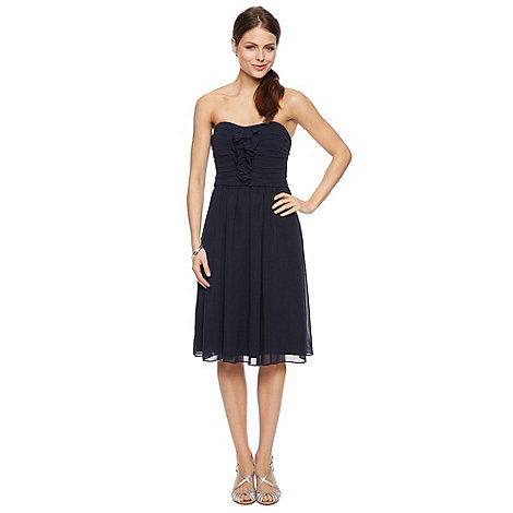 Debut - Fern Ruffle Bandeau Chiffon Midi Dress