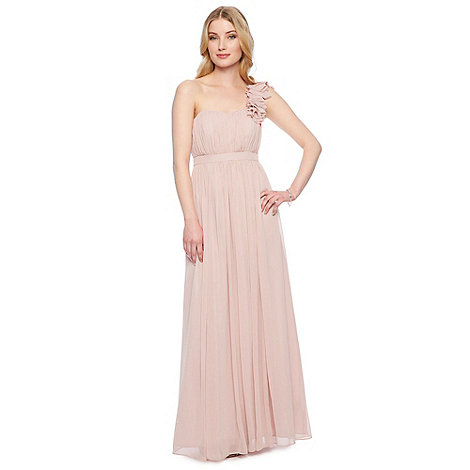 Debut - Mia Blossom Corsage Shoulder Chiffon Maxi Dress