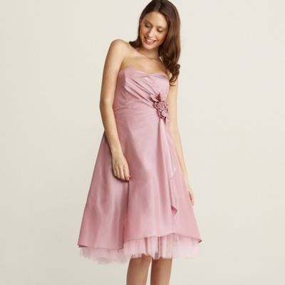 Debut Pink taffeta rose corsage prom dress product image