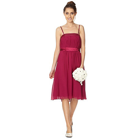 Debut - Lily Pleat Bandeau Midi Dress