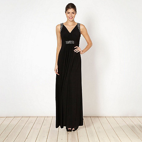 Debut - Black embellished jersey maxi dress