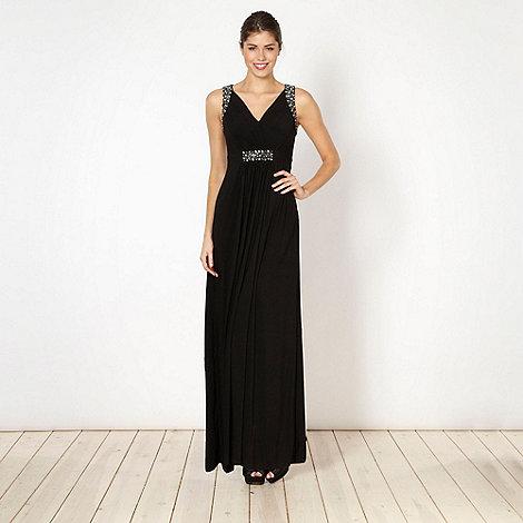 Debut - Black embellished jersey maxi dress