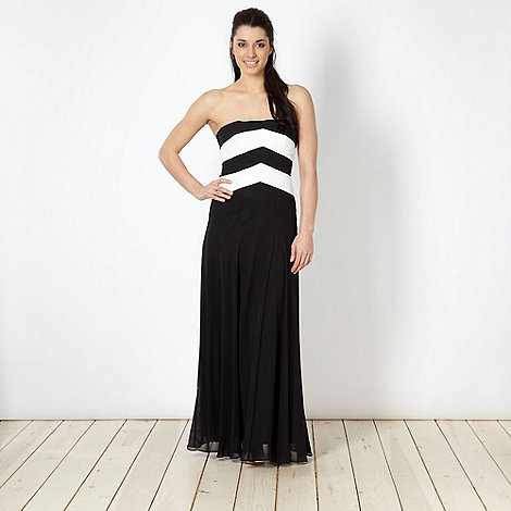Debut - Black bandeau maxi dress