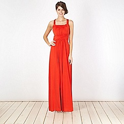 Debut - Orange Grecian jersey maxi dress