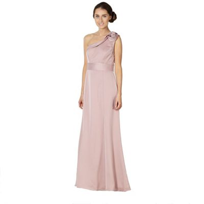 Rose swirl one shoulder maxi dress