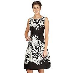 Debut - Black monochrome floral prom dress