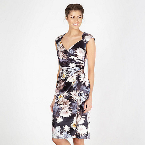 Debut - Floral print satin shift dress
