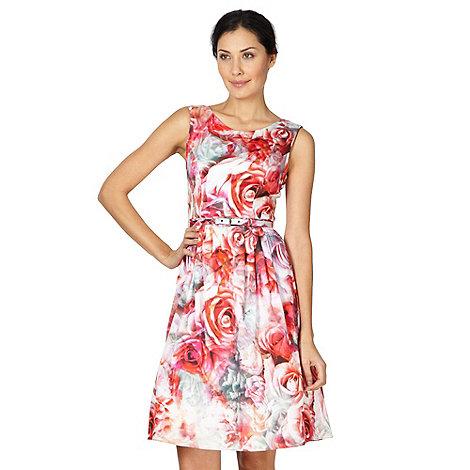 Debut - Dark pink floral prom dress