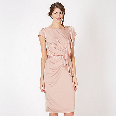 Debut - Rose frill side jersey panel midi dress