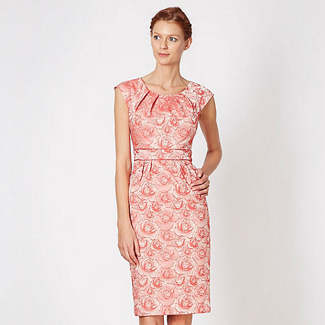 Debut - Designer pink jacquard floral shift dress