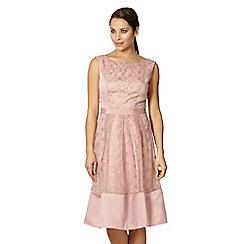 Debut - Rose floral organza prom dress