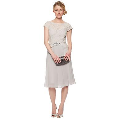 Designer light grey lace dress - Bridesmaid dresses ...