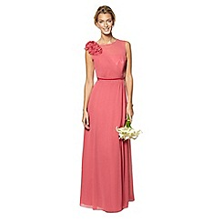 No. 1 Jenny Packham - Designer dark rose flower applique maxi dress
