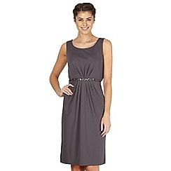 No. 1 Jenny Packham - Designer dark grey embellished waist dress