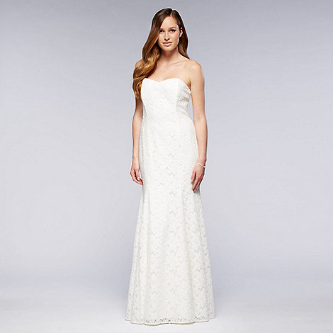 Debut - Ivory strapless lace bridal dress