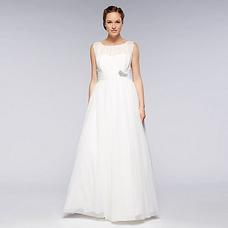Debut - Ivory high neck full skirt bridal dress