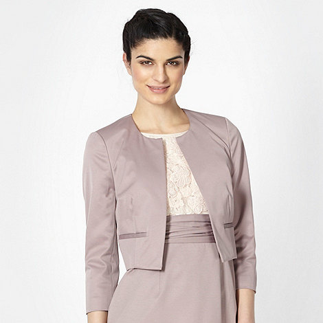 Debut - Taupe collarless jacket