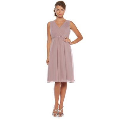 Debut Amethyst jewel trim midi occasion dress - . -